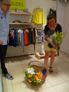 Annie, from the French market in Annecy sells store to store. And she loves what she does.