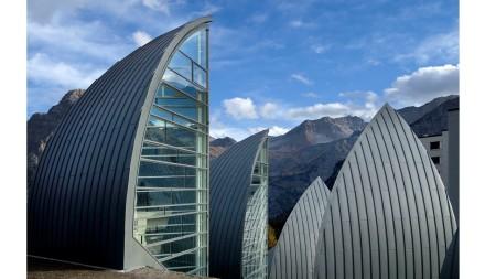 The Bergoase Spa  designed by Mario Botta.