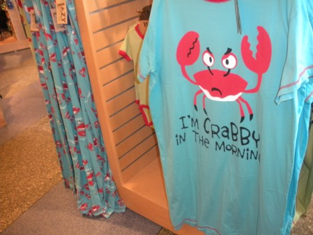 Crabby t-shirt in Charleston. Photo by Debra Moffitt