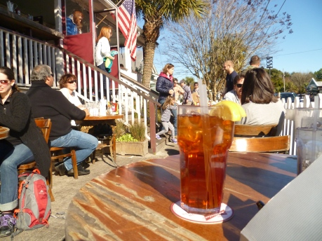 Unsweet tea at Poe's, Sullivan's Island, Photo by Debra Moffitt