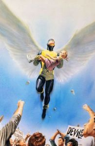 Angel as he appears in Marvels (January 2010). Art by Alex Ross.