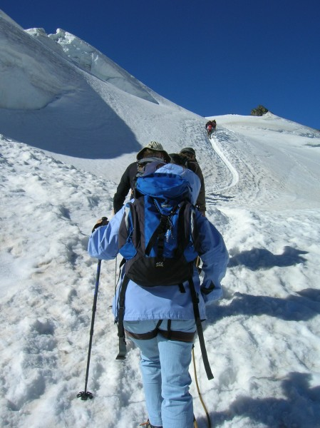 Debra on glacier at Zermatt