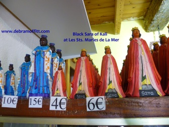 black sara of Kali at les sts maries with dm logo