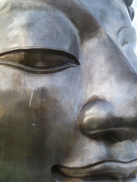 Buddha Annecy partial face with smiile Oct 2015